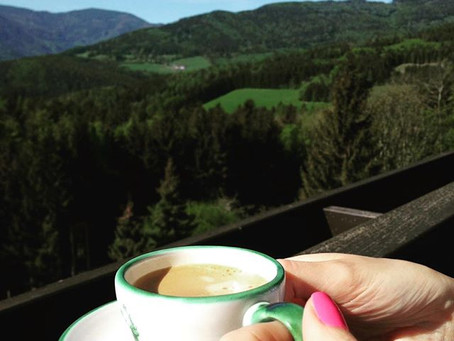 A coffee with a view....