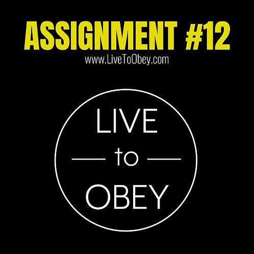 Assignment #12