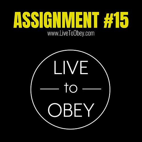 Assignment #15