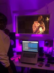 Recording studio session