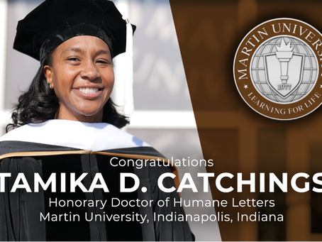 WNBA star Tamika Catchings receives Honorary Doctor of Humane Letters degree from Martin University