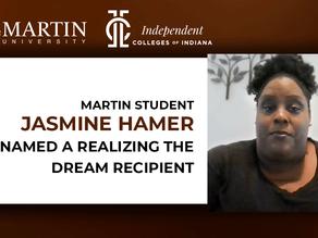 Martin University Student Jasmine Hamer Named a Realizing the Dream Recipient