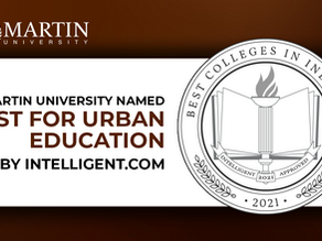 Martin University Named Best for Urban Education in Indiana by Intelligent.com