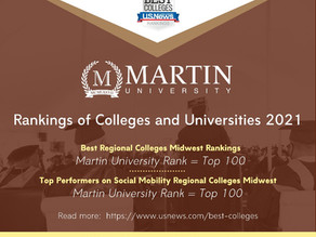 Martin University Among the 2021 U.S. News & World Report Best Colleges