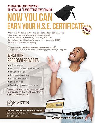 Martin DWD-HSE Certificate Letter Flyer