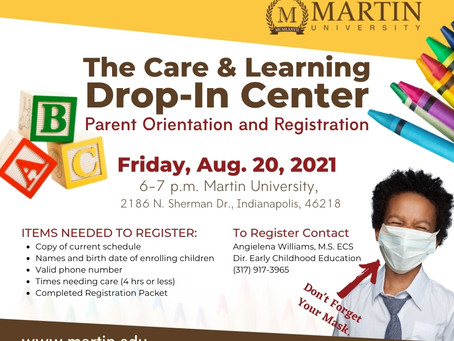 Childcare services available to current Martin students