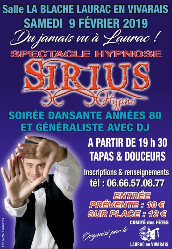 Spectacle Hypnose Sirius Hypno Laurac en Vivarais Ardèche Hypnotiseur de Spectacle