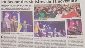 C'était dans le journal aujourd'hui...