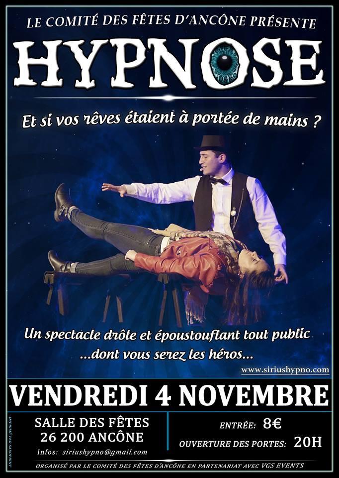 Spectacle d'hypnose à Ancône le 4 Novembre 2016