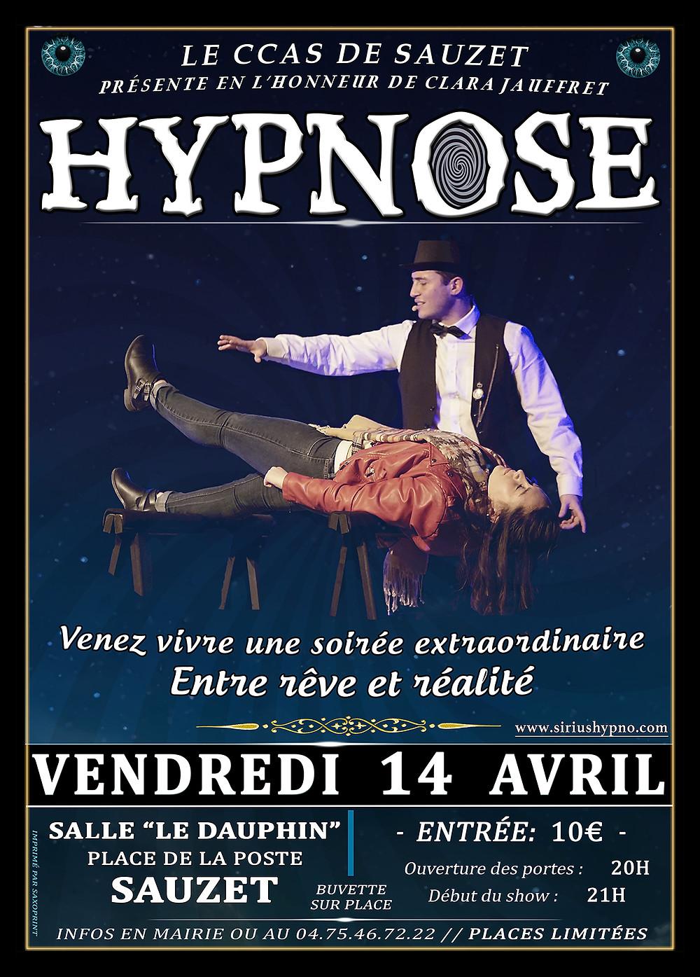 Hypnose à Sauzet avec Sirius Hypno Avril 2017
