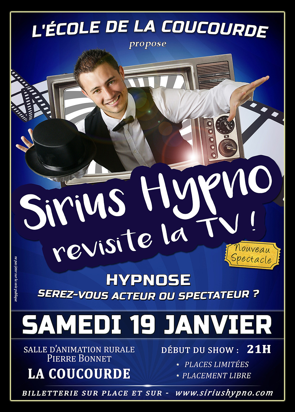 Sirius Hypno revisite la TV - La Coucourde Janvier 2019