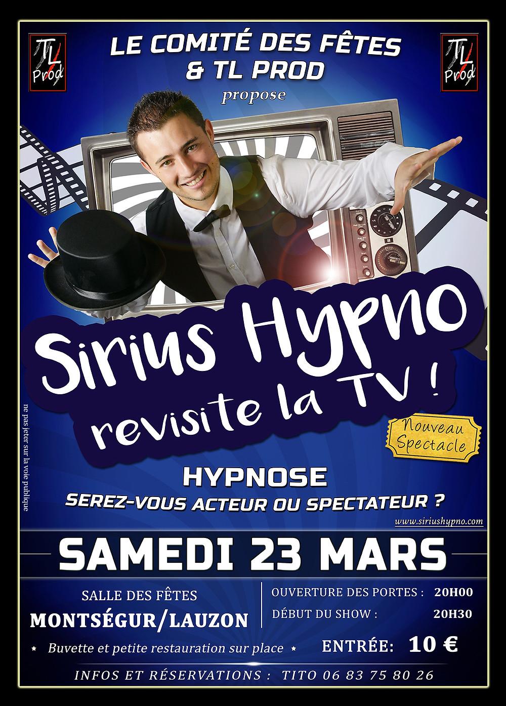 Spectacle Sirius Hypno Montségur sur Lauzon