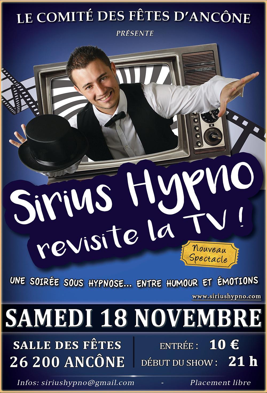 Sirius Hypno revisite la TV à Ancône (Drôme)