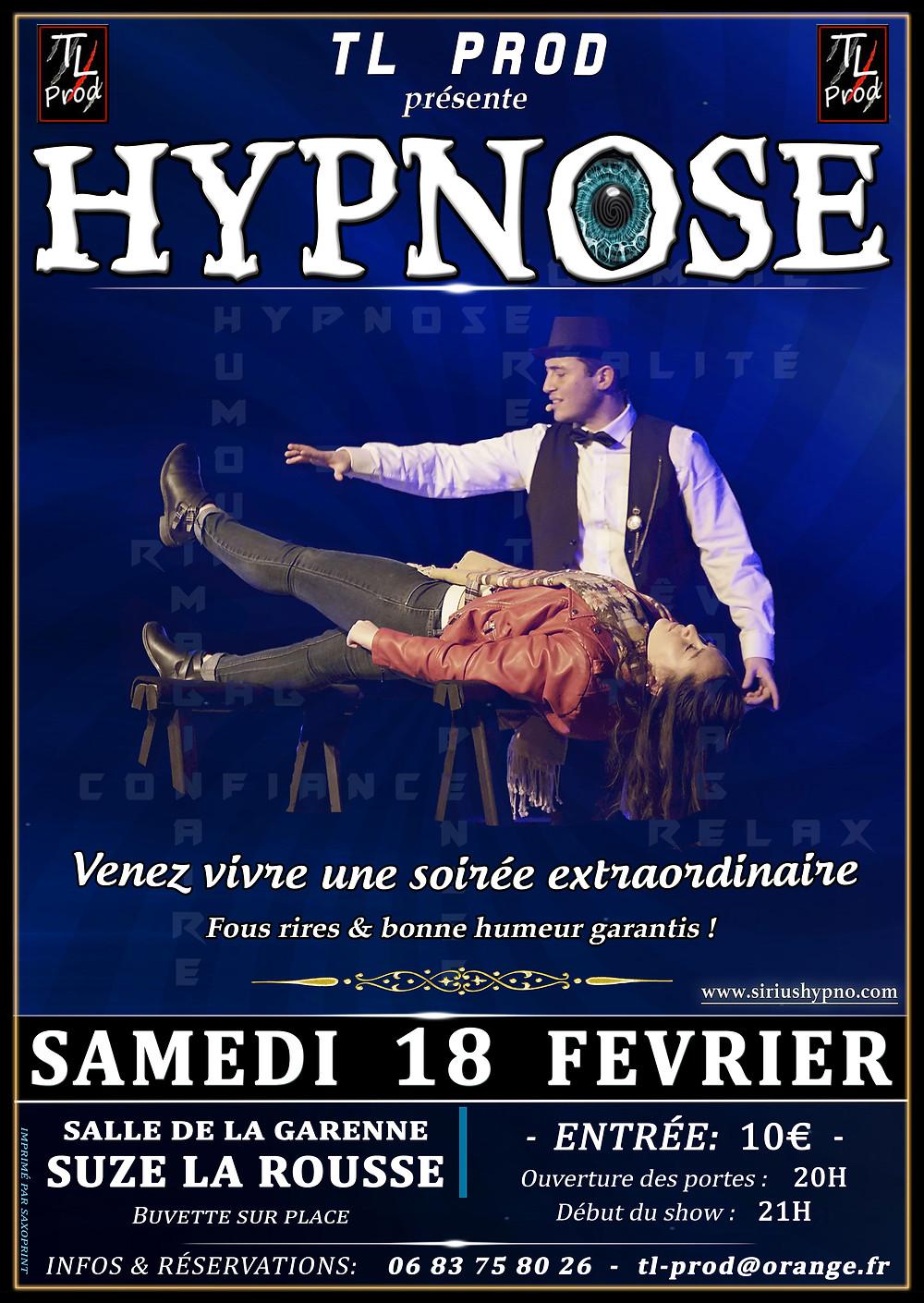 Affiche Sirius Hypno Hypnose à Suze La Rousse