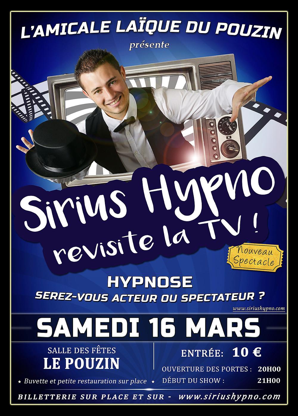Affiche Sirius Hypno revisite la TV Le Pouzin 2019
