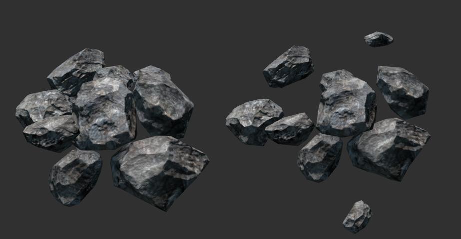 Piles de roches