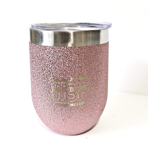 100th Anniversary Pink Wine Tumbler