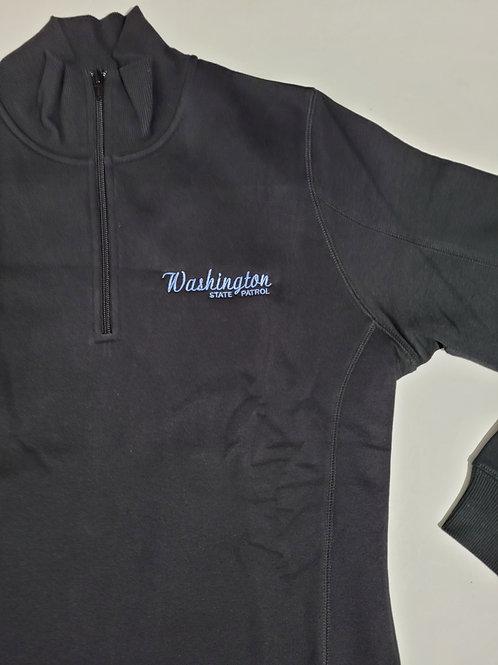 Women's black 1/4 zip sweatshirt