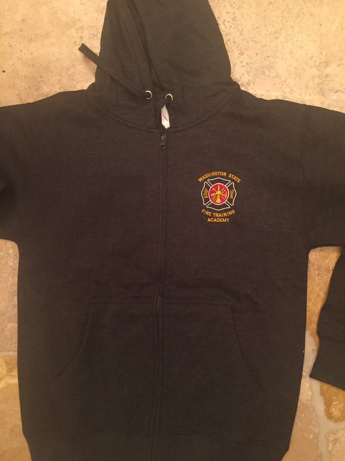 Dark Grey Full Zip Fire Sweatshirt