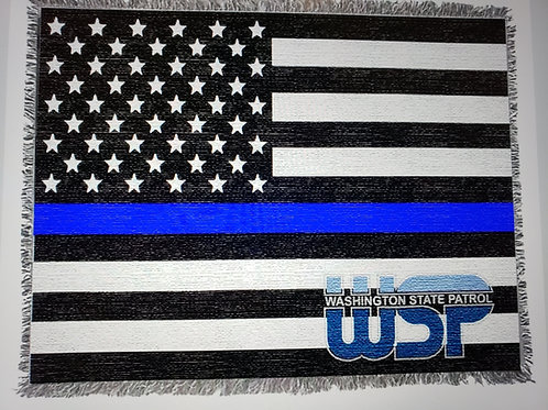WSP Thin Blue Line tapestry throw