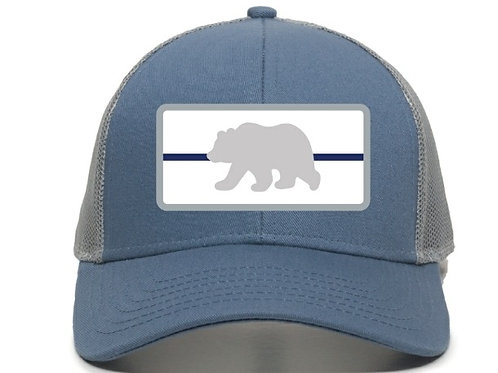 Thin Blue Line Bear Trucker Hat