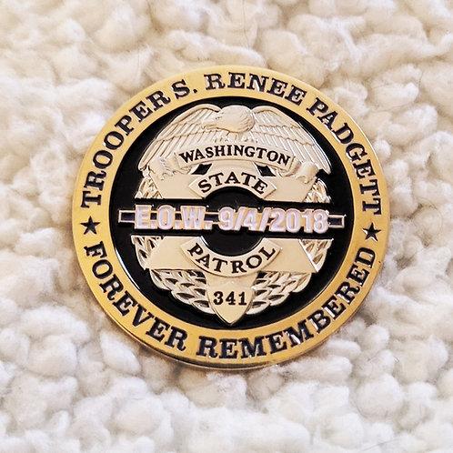 Trooper S. Renee Padgett EOW Coin