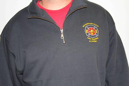 Navy 1/4 zip logo sweatshirt