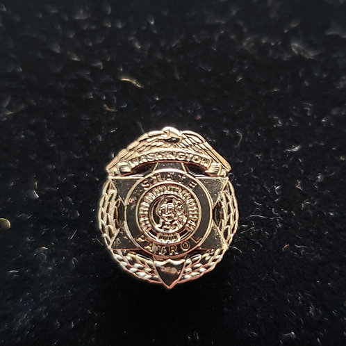 Silver Badge Label Pin