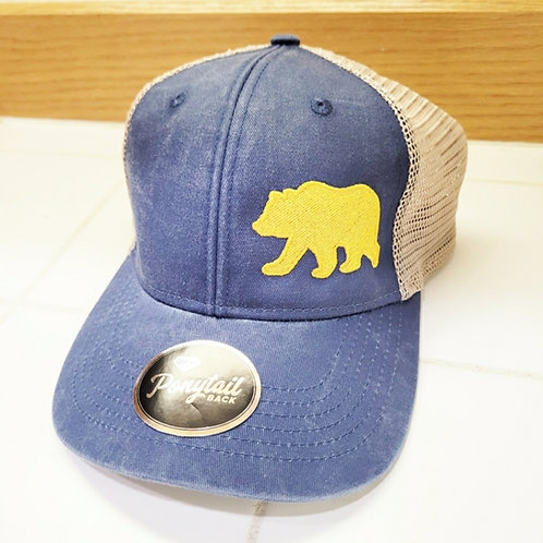 Women's Gold Bear Ponytail Hat
