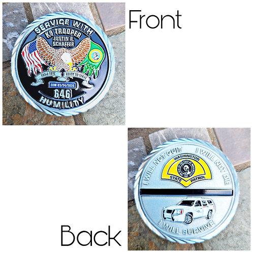 Trooper Justin Schaffer Memorial Coin