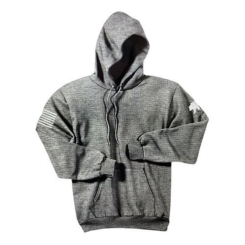 Grey Hooded Bear Sweatshirt