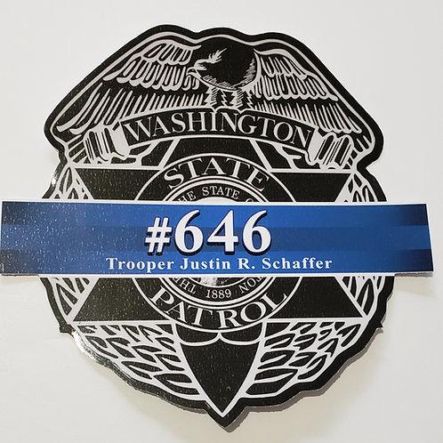 Trooper Schaffer Memorial Sticker