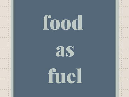Food as Fuel: My Elimination Diet