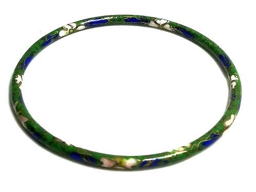 Designer by provenance, bracelet, bangle, Cloisonne motif.