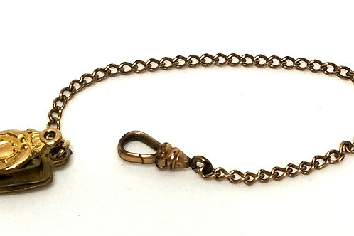 Designer by Bates and Bacon, fob for pocket watch, gold tone.