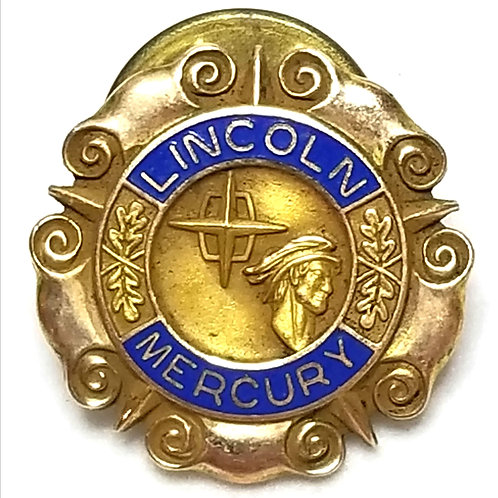 Designer by cTo, pin, early '60's Lincoln Mercury Dealers Motif, 10K GF