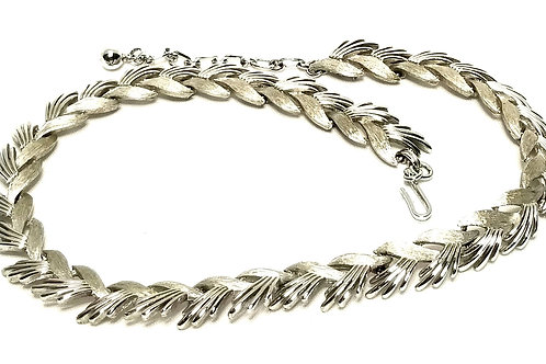 Designer by Trifari, neck wear, necklace, silver tone links 14 1/2 inches.