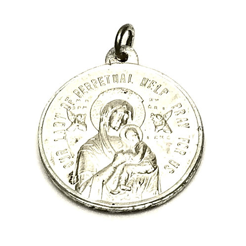 Designer by provenance, pendant or charm, religious motif, Sterling silver.