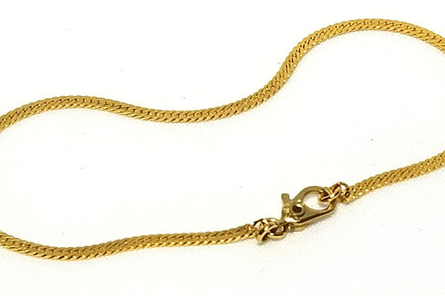 Designer by Sarah Cov, bracelet, curb chain in gold tone, 7 1/8 inches.