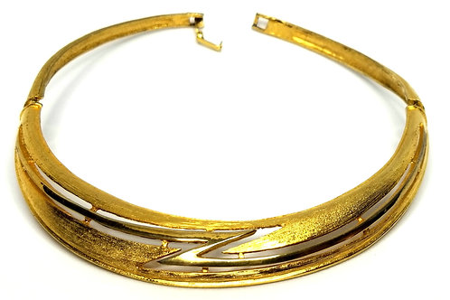 Designer by provenance, necklace, choker, gold tone, 12-13 inches.
