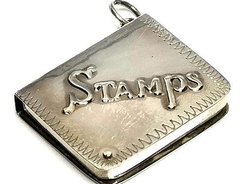 Designer by provenance, pendant/charm, stamps holder, Sterling silver.