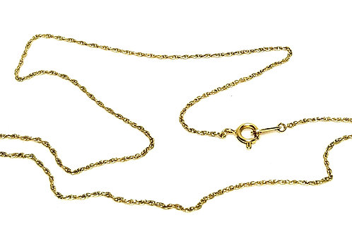 Designer by Trifari, necklace, 16 inch chain, gold tone pot metal