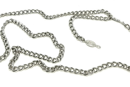 Designer By Sarah Cov, necklace, 24 1/2 inches silver tone links.