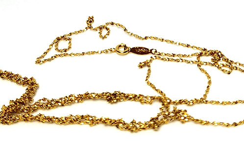 Designer by Napier, necklace, twisted rope motif, gold tone 24 inches.