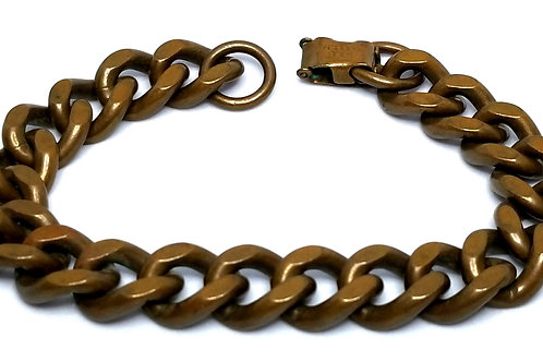 Designer by provenance, bracelet, solid copper links, 7 3/4 inches.