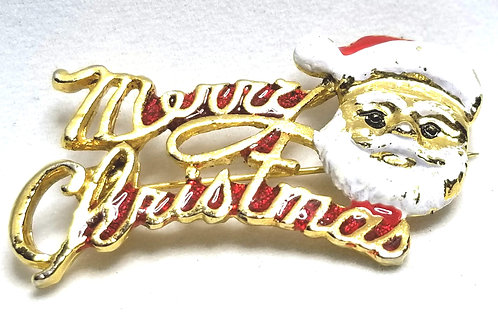 Designer by provenance, brooch, Santa motif, multi color, gold tone.