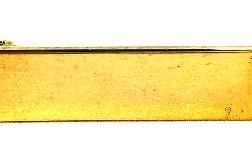 Designer by Kinney Co., collar clip, highway motif, gold tone, 3/8 x 2 inches.