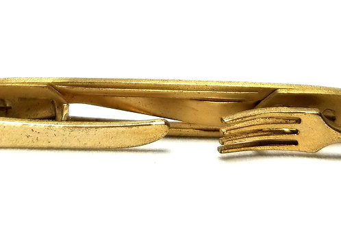 Designer by Anson, tie clip, gold tone, 3 1/2 inches.