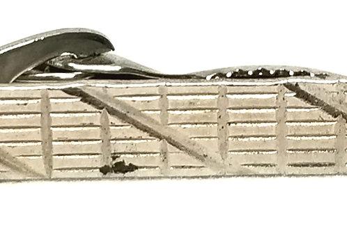 Designer by Provenance, tie clip, silver tone, 1 5/8 x 1/4 inch.