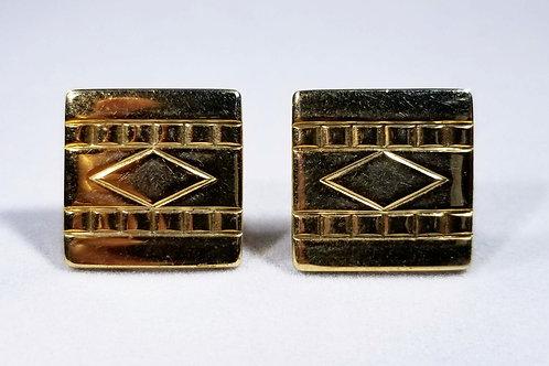 Designer Anson, cuff links, gold tone
